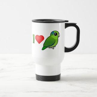 Mug De Voyage J'aime Parrotlets Pacifique (le vert)
