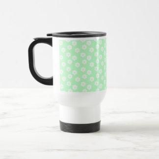 Mug De Voyage Joli modèle floral vert en bon état