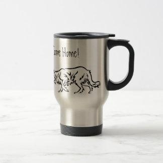 Mug De Voyage 'Jusqu'aux moutons venez à la maison !