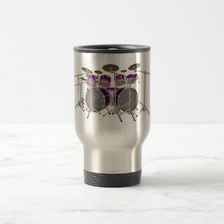 Mug De Voyage Kit de tambour de 10 morceaux : Gradient violet :
