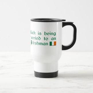 Mug De Voyage La chance est mariée à un Irlandais