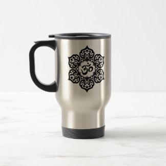 Mug De Voyage La fleur de Lotus OM conçoivent - le noir