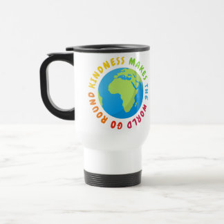 Mug De Voyage La gentillesse font le monde aller en rond -