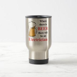 Mug De Voyage Là où il y a bière - électricien