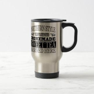 Mug De Voyage La publicité vintage de regard de thé doux démodé
