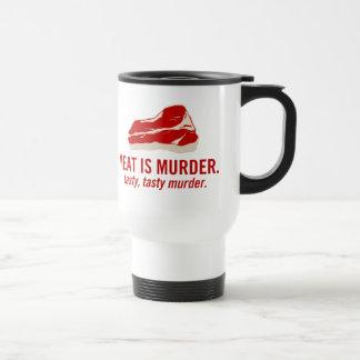 Mug De Voyage La viande est meurtre, meurtre savoureux