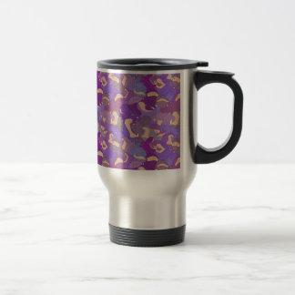 Mug De Voyage Laughing Hippos - purple