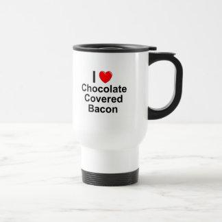 Mug De Voyage Le chocolat a couvert le lard