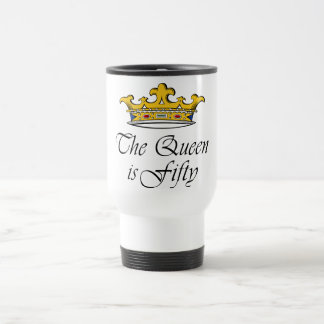 Mug De Voyage le cinquantième anniversaire la reine est 50 !