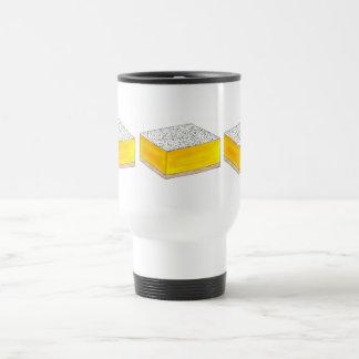 Mug De Voyage Le dessert de pâtisserie de barre carrée de citron