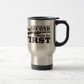 Mug De Voyage Le deuxième amendement protège le premier