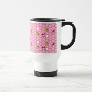 Mug De Voyage Le motif rose de coeur de Grinch et de Cindy-Lou