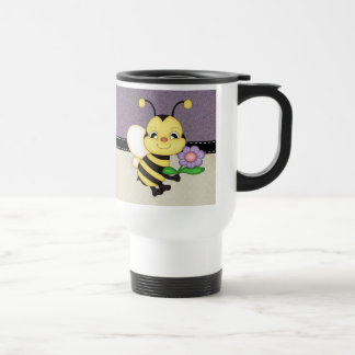 Mug De Voyage Le rétro jaune gaffent l'abeille