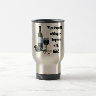 Mug De Voyage Le vin s'améliore avec l'âge, je s'améliorent avec
