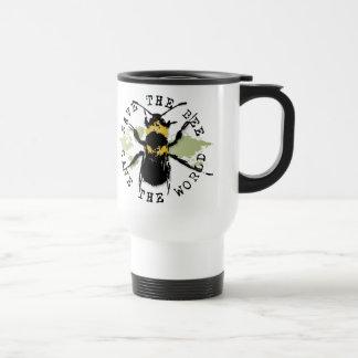 Mug De Voyage Le yoga parlent : Sauvez les économies d'abeille…