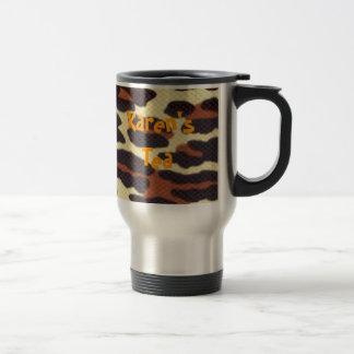 Mug De Voyage léopard, le thé de Karen
