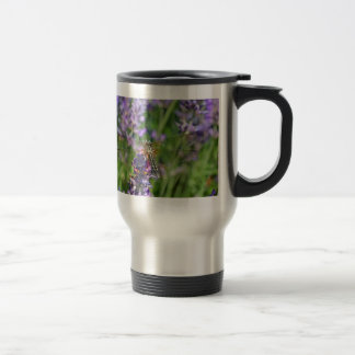 Mug De Voyage Libellule dans le jardin de lavande