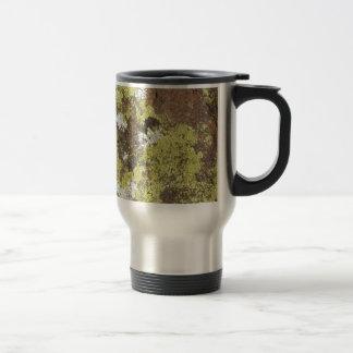 Mug De Voyage Lichen jaune et blanc sur le grès Camo naturel