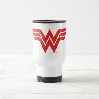 Mug De Voyage Logo rouge de femme de merveille