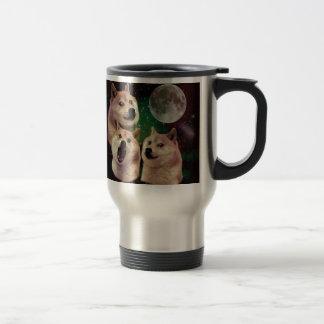 Mug De Voyage Lune de doge - l'espace de doge - chien - doge -