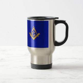 Mug De Voyage Maçon - bleu maçonnique