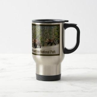 Mug De Voyage Maman et CUB d'ours gris de Yellowstone