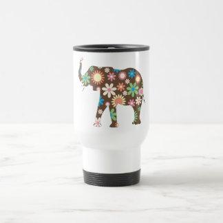 Mug De Voyage Mignon coloré de rétros fleurs florales géniales