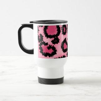 Mug De Voyage Modèle rose et noir d'empreinte de léopard