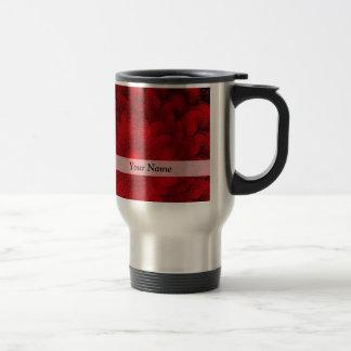 Mug De Voyage Motif assez rouge moderne de fractale