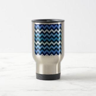 Mug De Voyage Motif bleu de Chevron