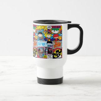 Mug De Voyage Motif de bande dessinée de ligue de justice de