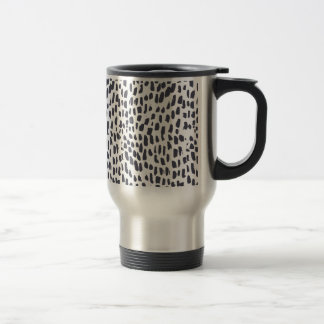 Mug De Voyage Motif de course de brosse de léopard