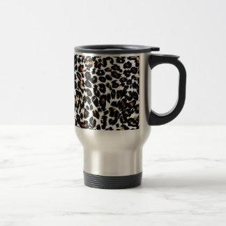 Mug De Voyage Motif d'empreinte de léopard