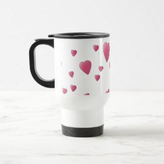 Mug De Voyage Motif des coeurs assez roses d'amour