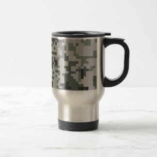 Mug De Voyage Motif gris urbain de Camo de pixel