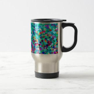 Mug De Voyage Motif multicolore bleu coloré d'art abstrait