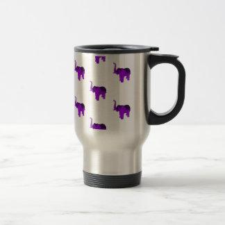 Mug De Voyage Motif pourpre d'éléphants