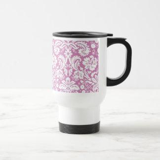 Mug De Voyage Motif rose antique de damassé