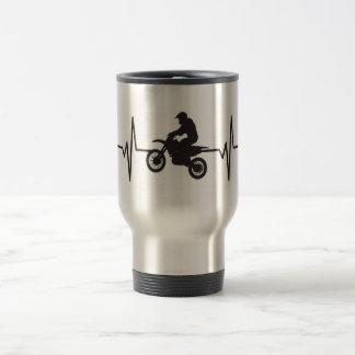 Mug De Voyage Moto de vélo de saleté - graphique d'impulsion de
