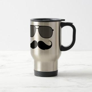 Mug De Voyage moustache et verres