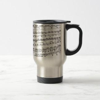 Mug De Voyage Musique de feuille
