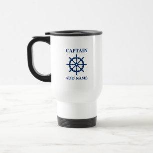 Mug De Voyage Navires à roue, avec nom de capitaine ou de batea