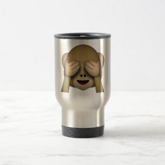 Mug De Voyage Ne voir l'aucun singe mauvais - Emoji
