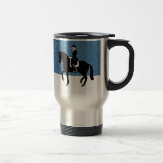 Mug De Voyage Noël de cheval de dressage de Milou