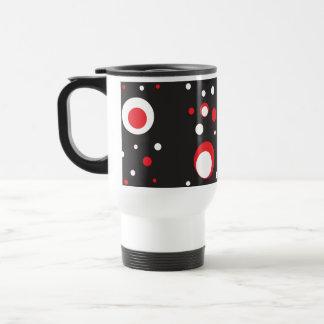 Mug De Voyage Noir blanc rouge de rétro motif de cercles