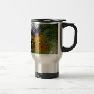 Mug De Voyage Oiseau exotique de vert d'oiseau d'animaux