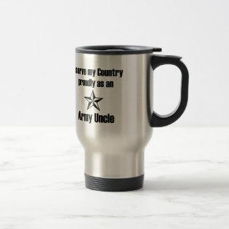 Mug De Voyage Oncle Serving Proudly d'armée