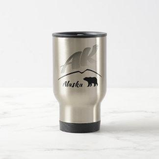 Mug De Voyage Ours (AK) brun de Kodiak de l'Alaska - logo noir