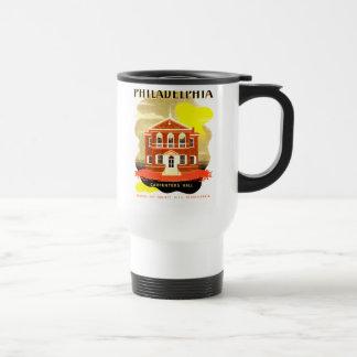 Mug De Voyage PA de Philadelphie. Charpentiers Hall, WPA 1936
