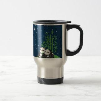 Mug De Voyage Panda de nuit d'étoile